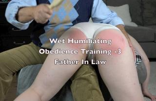 obedient wife soaking wet discipline over father in law